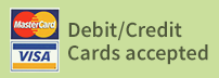 Debit Credit Cards Accepted